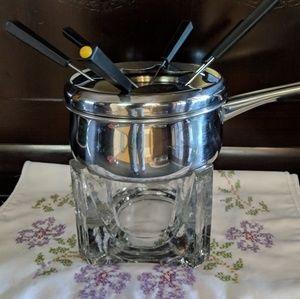 Other - Beautiful glass fondue complete set.